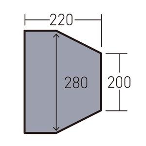 ogawa(キャンパルジャパン) PVCマルチシート ツインクレスタ フルインナー用 1435