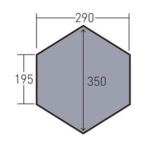 ogawa(キャンパルジャパン) PVCマルチシート ツインピルツフォークL フルインナー用 1436