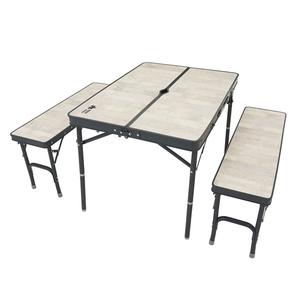 ロゴス(LOGOS) 【2021年新商品】ROSY ベンチテーブルセット4 73188036