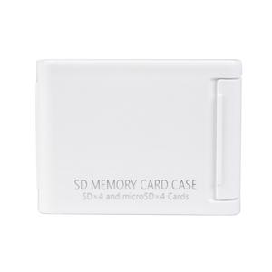 Kenko(ケンコー) SDメモリーカードケースAS 4枚収納タイプ(SDカード4枚+microSDカード4枚収納可能) ホワイト ASSD4WH