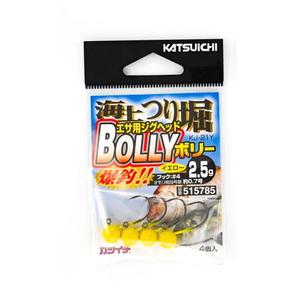 カツイチ(KATSUICHI) 海上つり堀 BOLLY #4-2.5g イエロー KJ-21Y