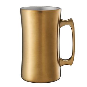 ドウシシャ(DOSHISHA) 飲みごろメガジョッキ 1000 1.0L ゴールド DSSJ1000GD