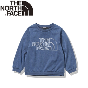 THE NORTH FACE(ザ・ノースフェイス) 【21春夏】K ST DENIM MT CREW(ストレッチ デニム マウンテン クルー)キッズ NTJ12122 長袖(ジュニア・キッズ・ベビー)