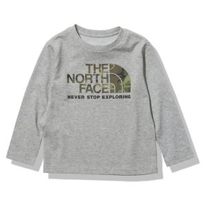 THE NORTH FACE(ザ・ノースフェイス) 【21春夏】K L/S CAMO LOGO TEE(ロングスリーブ カモ ロゴ ティー)キッズ NTJ32144 長袖(ジュニア・キッズ・ベビー)