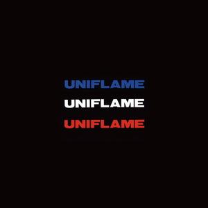 ユニフレーム(UNIFLAME) UFロゴステッカー小 トリオ 690116