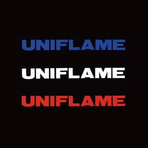ユニフレーム(UNIFLAME) UFロゴステッカー大 トリオ 690123