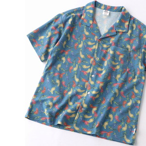 gym master(ジムマスター) 梨地 ハッピー ペイント オープン カラーシャツ G433696