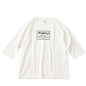 KAVU(カブー) 【21春夏】ENGINEERED BASEBALL TEE(エンジニアード ベースボール Tシャツ) L ホワイト×ホワイト 19821016010007