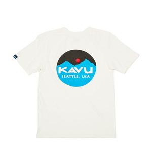 KAVU(カブー) Mountain Logo Tee Men's(マウンテン ロゴ ティー メンズ) 19820422010003