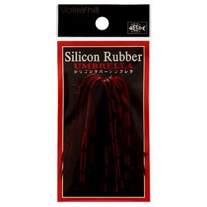 バレーヒル(ValleyHill) SILCONE RUBBER UMBRELLA(シリコンラバー アンブレラ) #208 ブラック×レッド