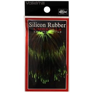 バレーヒル(ValleyHill) SILCONE RUBBER UMBRELLA(シリコンラバー アンブレラ) #214 パンプキンGR×チャートストライプクロー