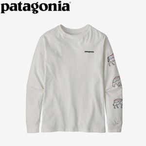 パタゴニア(patagonia) 【21秋冬】ボーイズ ロングスリーブ グラフィック オーガニック Tシャツ 62229