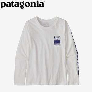 パタゴニア(patagonia) 【21秋冬】ガールズ ロングスリーブ グラフィック オーガニック Tシャツ 62214