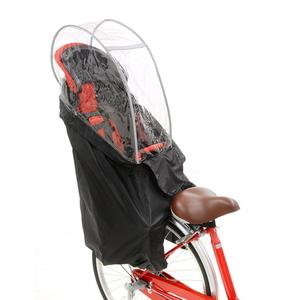 OGK技研(オージーケー) 後子供乗せ用やわらかレインカバー ブラック RCR-003Ver.C