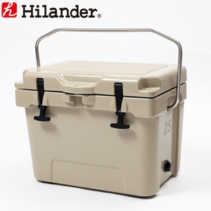 【送料無料】Hilander(ハイランダー) ハードクーラーボックス 25L タン HCA0225