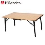 Hilander(ハイランダー) バンブー4つ折りテーブル HCA0248 キャンプテーブル