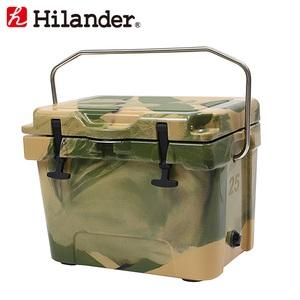 【送料無料】Hilander(ハイランダー) ハードクーラーボックス 25L カモ HCA0266