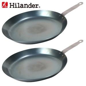 Hilander(ハイランダー) 焚き火フライパン(極厚1.6mm)【お得な2点セット】 HCA-003F