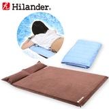 Hilander(ハイランダー) スエードインフレーターマット5.0cm+冷感敷パット【お買い得2点セット】 UK-3+N-02 インフレータブルマット