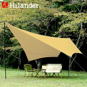 Hilander(ハイランダー) タープ トラピゾイド 450 HCA0283 ウィング型(ポール:1~2本)
