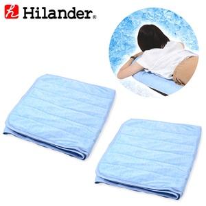 Hilander(ハイランダー) インフレーターマット用 冷感敷きパッド【お得な2点セット】 N-01