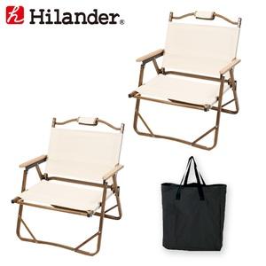 Hilander(ハイランダー) アルミデッキチェア×2+キャリートートバッグ【お得な3点セット】 HCA0234