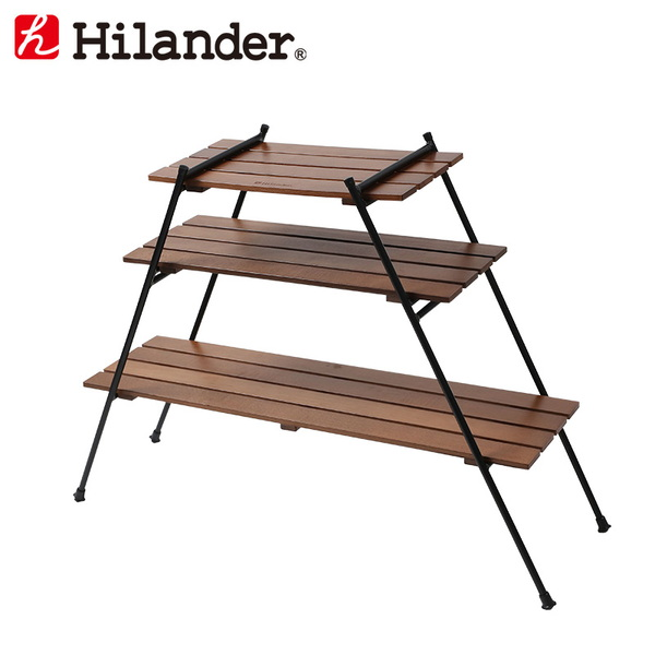 Hilander(ハイランダー) アイアンウッドラック HCA0287 ツーバーナー&マルチスタンド