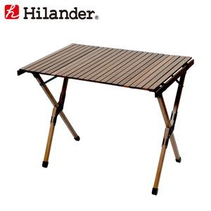 【送料無料】Hilander(ハイランダー) ウッドロールトップテーブル H70 ダークブラウン HCA0293