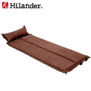 Hilander(ハイランダー) スエードインフレーターマット 2つ折り仕様(枕付きタイプ) 3.2cm UK-18
