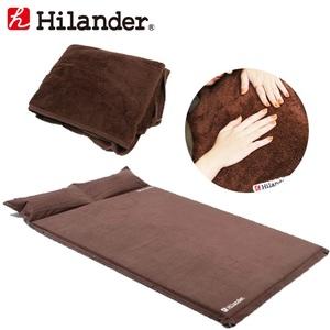 Hilander(ハイランダー) スエードインフレーターマット5.0cm+インフレーターマット用ボア敷きパッド【お得な2点セット】 UK-3UK-15