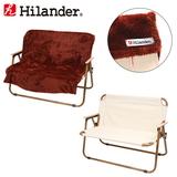 Hilander(ハイランダー) アルミフォールディングベンチ(2人掛け)×2人掛けベンチ用 フリースカバー【お得な2点セット】 ベンチ