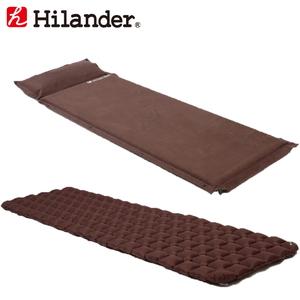 Hilander(ハイランダー) スエードインフレーターマット(枕付きタイプ)5.0cm×コンパクトエアーマット 5.0cm