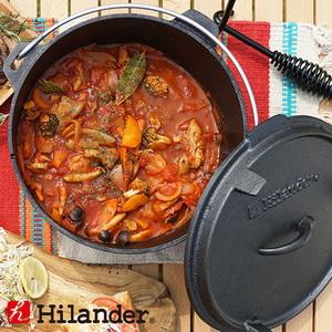 Hilander(ハイランダー) ダッチオーブン 10インチ スターターセット(本体+リフター+収納袋) HCA0320 ダッチオーブン