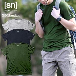 Hilander(ハイランダー) 【sn×Hilander】メリノウール ポケットTシャツ L ダークグリーン SN304