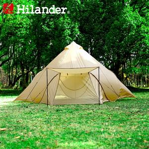 【送料無料】Hilander(ハイランダー) ポップワンポールテント フィンガル 単品 ベージュ HCA0310