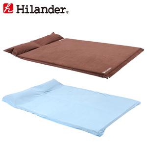 Hilander(ハイランダー) スエードインフレーターマット(枕付きタイプ)5.0cm+冷感シーツ(Q-MAX0.445) UK-3UK-22