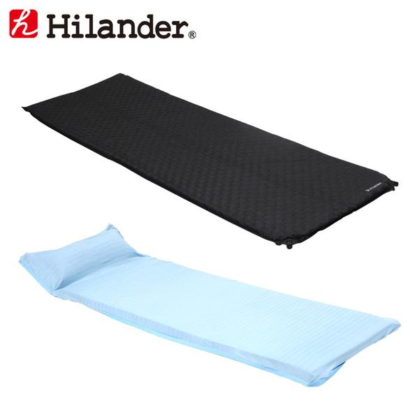 Hilander(ハイランダー) インフレーターマット(枕なしタイプ)3.5cm+冷感シーツ(Q-MAX0.445) HCA0265UK-21 マットレス