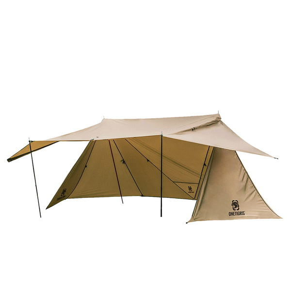 OneTigris(ワンティグリス) ROC SHIELD Bushcraft Tent CE-BHS04-CB-A ツーリング&バックパッカー