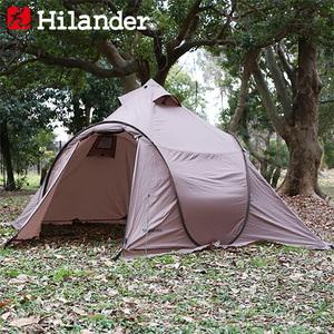 Hilander(ハイランダー) ポップワンポールテント フィンガル ソロ(インナー+グランドシート付き) HCA0374 ポップアップテント