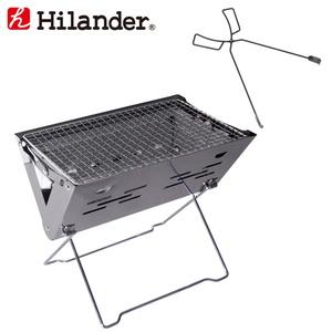 Hilander(ハイランダー) コンパクトグリル+薪ばさみ【お得な2点セット】 HCA2031HCA2034