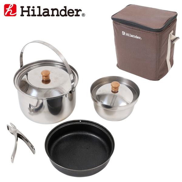 Hilander(ハイランダー) ファミリーキャンピングクッカーセット(収納バッグ付き) HFK-001-SET ファミリークッカーセット