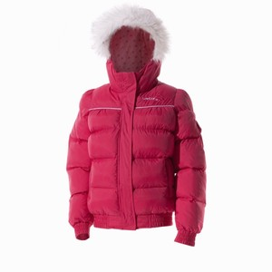 【送料無料】Wed'ze(ウェッゼ) BALLFIBER MAXI WARM JACKET JUNIOR 8歳 PINK 8155259-1270815