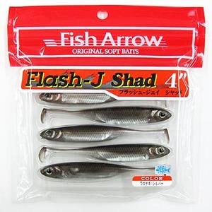 Flash−J Shad(フラッシュ−ジェイ シャッド) 4インチ #07:ワカサギ/シルバー