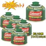 Coleman(コールマン) 純正LPガス燃料[Tタイプ]230g【お得な6点セット】 5103A230T キャンプ用ガスカートリッジ