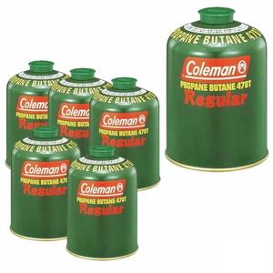 Coleman(コールマン)純正LPガス燃料[Tタイプ]470g【お得な6点セット】