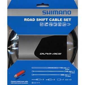 シマノ(SHIMANO/サイクル) DuraAce9000用ポリマーコート シフトケーブルセット ブラック Y63Z98910