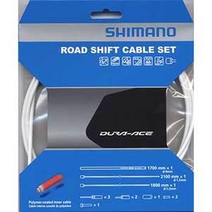 シマノ(SHIMANO/サイクル) DuraAce9000用ポリマーコート シフトケーブルセット ホワイト Y63Z98920