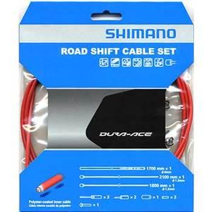 シマノ(SHIMANO/サイクル) DuraAce9000用ポリマーコート シフトケーブルセット レッド Y63Z98930
