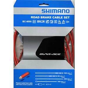 シマノ(SHIMANO/サイクル) BC-9000 ポリマーコート ブレーキケーブルセット レッド y8yz98030