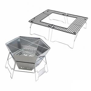 ヘキサ ステンレス ファイアグリル 3〜4人用+ファイアグリル テーブル【お得な2点セット】